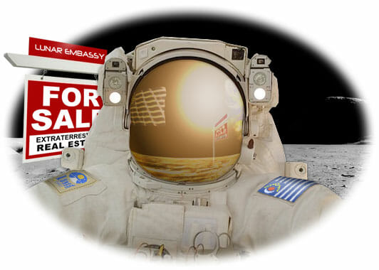 Lunar Embassy Astronaut For Sale land on the moon