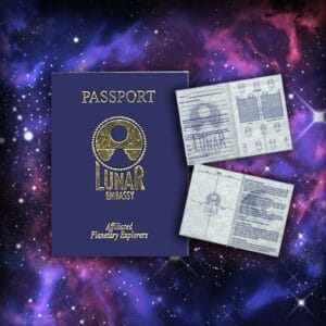 Extraterrestrial Passport by Lunar Embassy