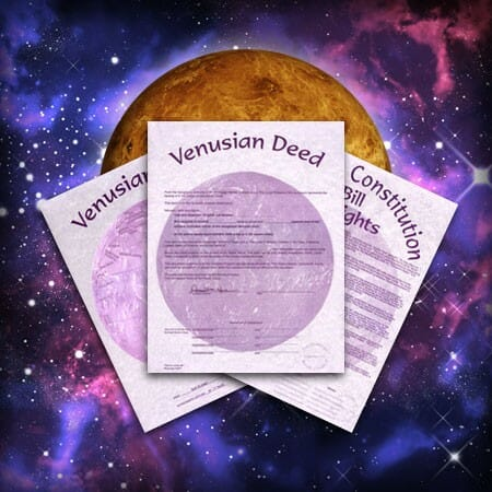 Buy Venus Property, Venusian Deed
