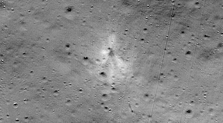 Lunar Lander Crash Site